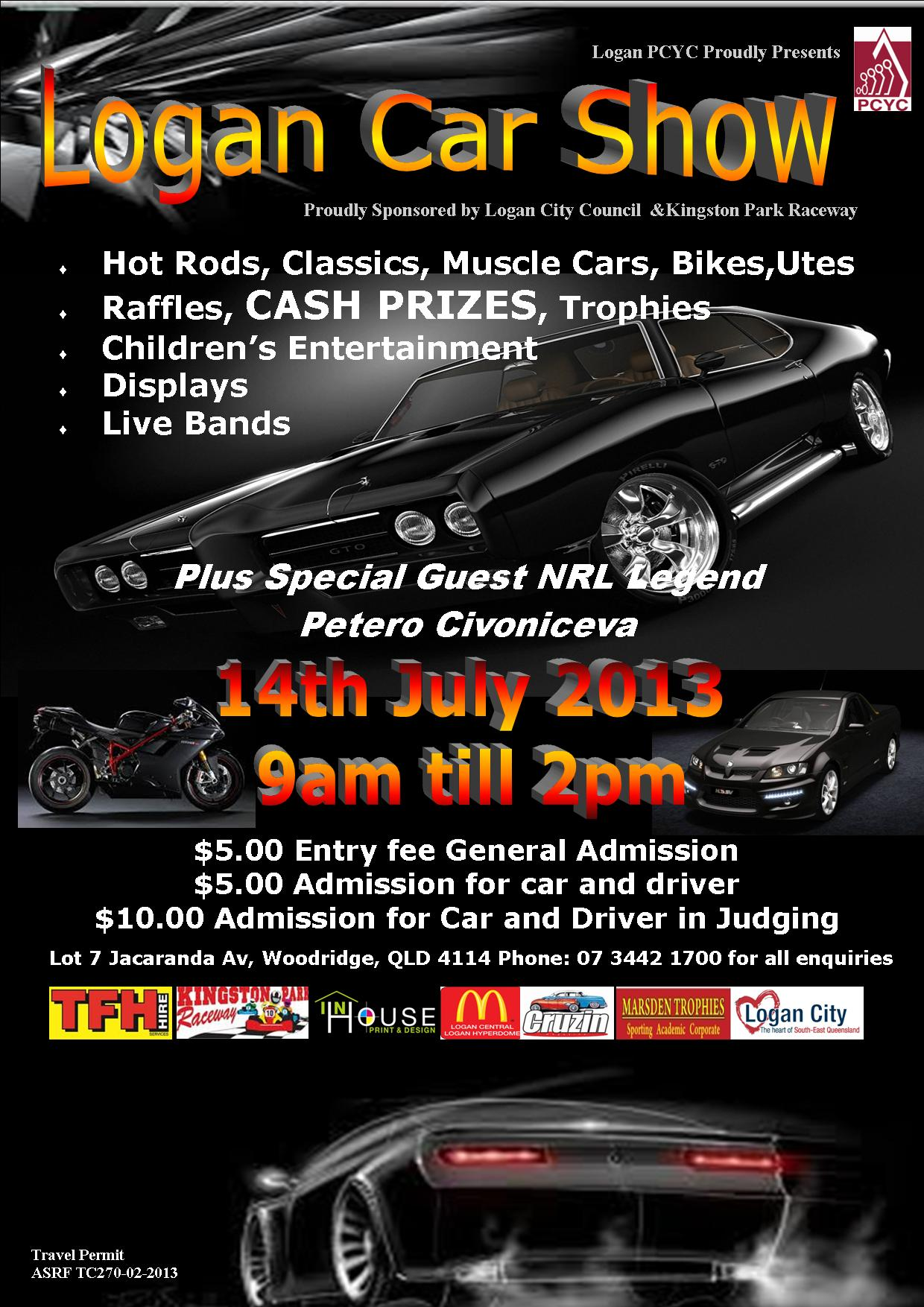 Size of posters for car shows
